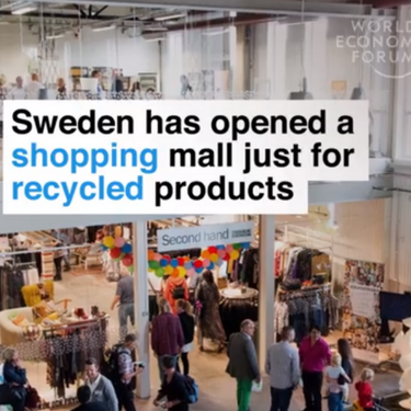 A Shopping Mall Filled With All Recycled Shops!