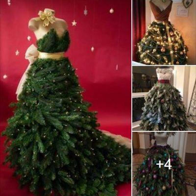 Stunning Fashion Inspired Christmas Tree Dresses!